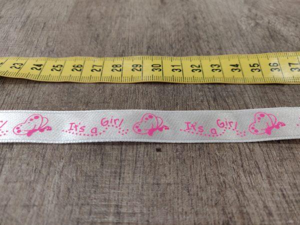 It_s_a_girl_nauha_vaaleanpunainen_leveys_17mm